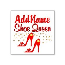 """WILD RED SHOES Square Sticker 3"""" x 3"""""""