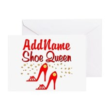 WILD RED SHOES Greeting Card