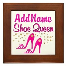 SEXY PINK SHOES Framed Tile