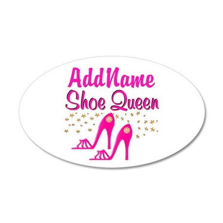 SEXY PINK SHOES 35x21 Oval Wall Decal