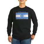 Israel Israeli Flag Long Sleeve Black T-Shirt
