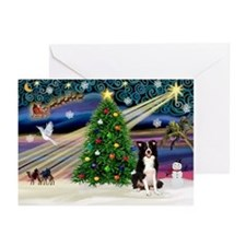 XmasMagic/Border Collie Greeting Cards (Pk of 10)