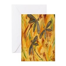 Dragonfly Flit Warm Breeze Greeting Cards (Pk of 2
