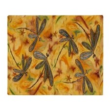 Dragonfly Flit Warm Breeze Throw Blanket