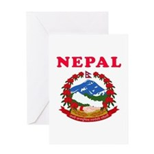 Nepal Coat Of Arms Designs Greeting Card