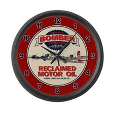 Bomber Reclaimed Motor Oil Large Wall Clock