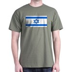 Israel Jewish Flag Military Green T-Shirt