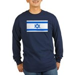 Israel Jewish Flag Long Sleeve Blue T-Shirt