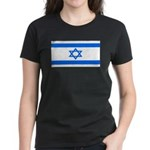 Israel Jewish Flag Women's Black T-Shirt