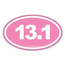 13.1 Half Marathon EURO Oval Decal