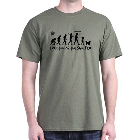SHIH TZU Evolution -Dark T-Shirt $5 off...