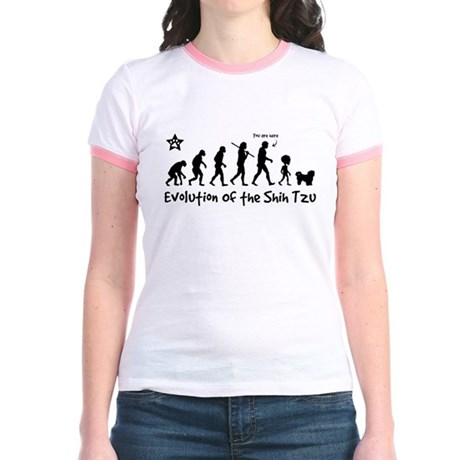 Shih Tzu Evolution - Jr. Ringer T-Shirt