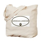 Oval Norwegian Lundehund Tote Bag