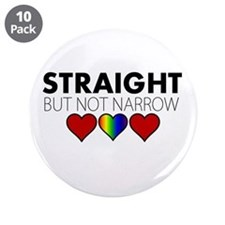 "STRAIGHT but not narrow 3.5"" Button (10 pack)"