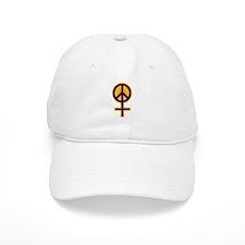 Colorful Feminist Peace Baseball Cap
