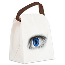 blue-eye art Canvas Lunch Bag