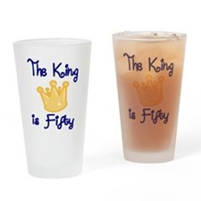 THE KING IS FIFTY Drinking Glass