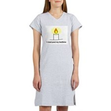 Reads Past Bedtime Women's Nightshirt