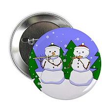 Flute & Piccolo Snowmen Button