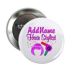 """CHIC HAIR STYLIST 2.25"""" Button (100 pack)"""