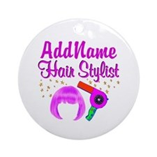 CHIC HAIR STYLIST Ornament (Round)