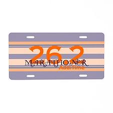 Marathoner Personal Best Aluminum License Plate