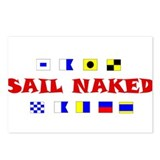 Funny Sail sails sailing Postcards (Package of 8)