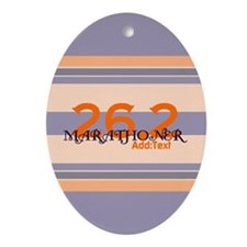 Marathoner Personal Best Ornament (Oval)