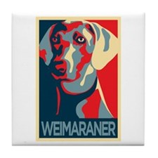 The Regal Weimaraner Tile Coaster