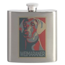 The Regal Weimaraner Flask