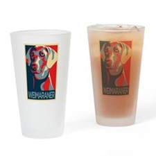 The Regal Weimaraner Drinking Glass