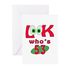 Look who's 53 ? Greeting Cards (Pk of 20)