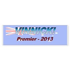 Vinnick for PM! Stickers