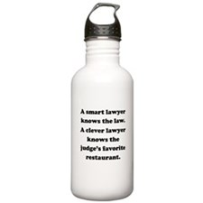 A Clever Lawyer Sports Water Bottle