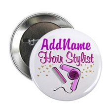"FOXY HAIR STYLIST 2.25"" Button (100 pack)"