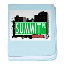SUMMIT PLACE, QUEENS, NYC baby blanket