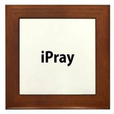 I pray Framed Tile