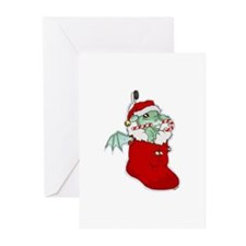 Dragon Stocking Greeting Cards (Pk of 10)