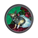 Chihuahua Christmas Lola Wall Clock
