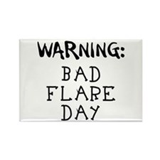 Warning: Bad Flare Day! Rectangle Magnet