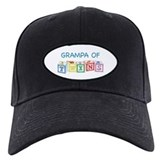 Grampa of Twins Blocks Baseball Cap