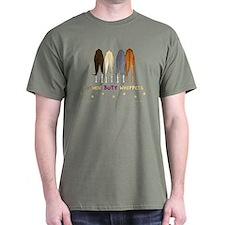 Nothin' Butt Whippets Green T-Shirt