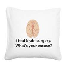 brain1.png Square Canvas Pillow