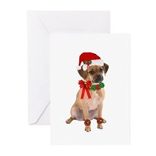 Christmas Puggle Greeting Cards (Pk of 10)