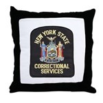 New York Corrections Throw Pillow