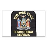 New York Corrections Rectangle Sticker