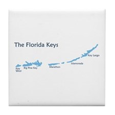 Florida Keys - Map Design. Tile Coaster