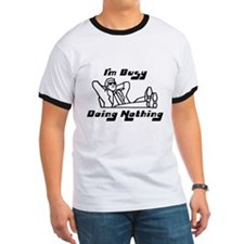 Busy Doing Nothing (Black) T