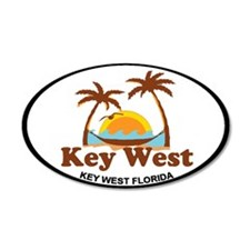 Key West - Palm Trees Design. Wall Decal