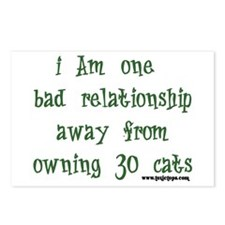 One Bad Relationship Away Postcards (Package of 8)